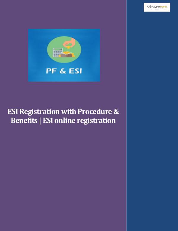 Venture Care -  PF application & esi online Registration Venture Care-ESI Registration with Procedure & Ben