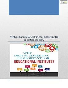 Venture Care's 360 degree digital marketing for Education Industry