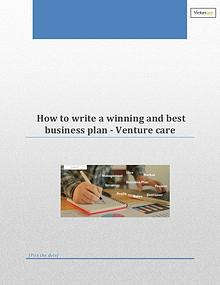 How to write a winning and best business plan - Venture care