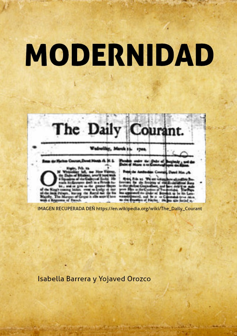 Revista: Historia social de la comunicación MODERNIDAD