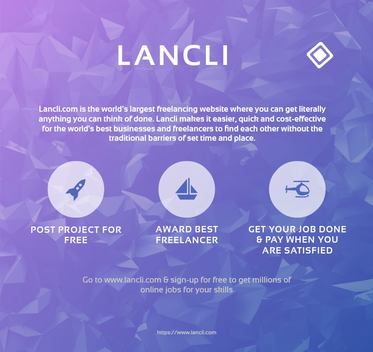 Lancli.com the world's largest freelancing website Lancli.com the world's largest freelancing website