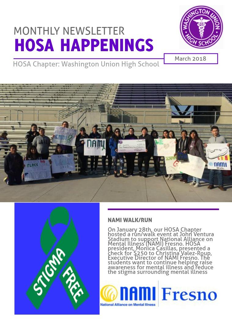 HOSA Happening: Washington Union HS March