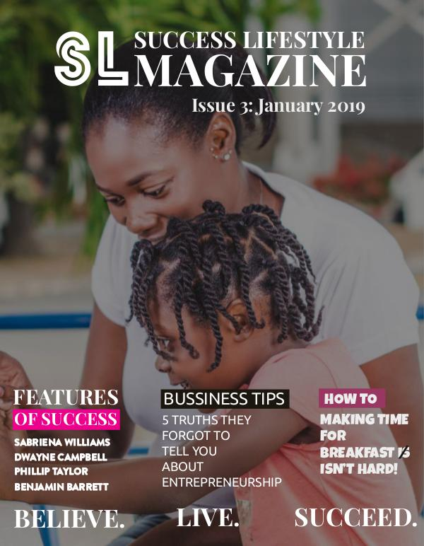 Success Lifestyle Magazine January 2019