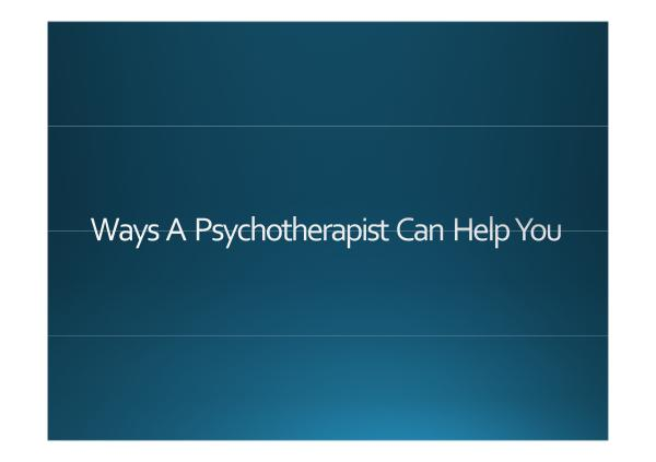 HHC Centre Ways A Psychotherapist Can Help You