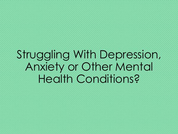 HHC Centre Struggling With Depression, Anxiety or Other Menta