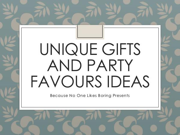 Magento Unique Gifts and Party Favours Ideas
