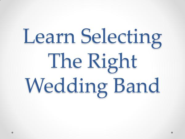 Main Event Music Learn Selecting The Right Wedding Band