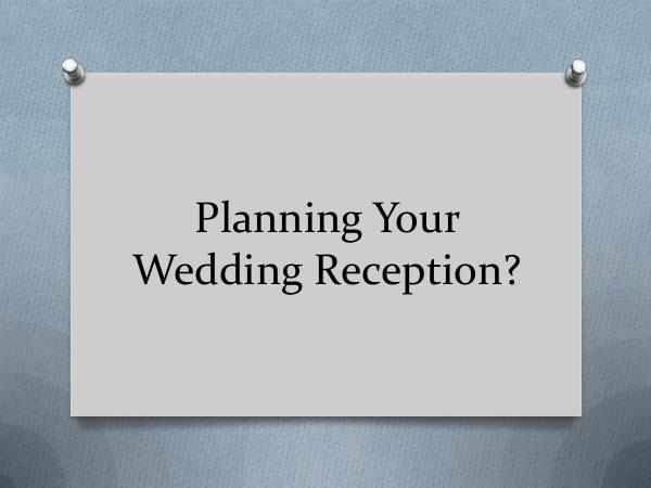Main Event Music Planning Your Wedding Reception