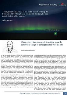 Clean energy investment : A transition towards renewable energy