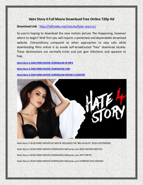 Hate Story 4 2018 Hindi Movie Watch Online Free Hate Story 4 Full