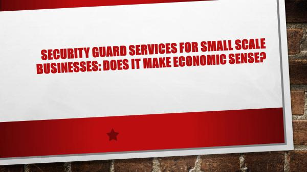 Security Guard Services for Small Scale Businesses