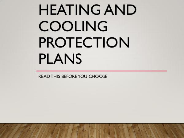 Smart Home Solutions Heating and Cooling Protection Plans - Read This B