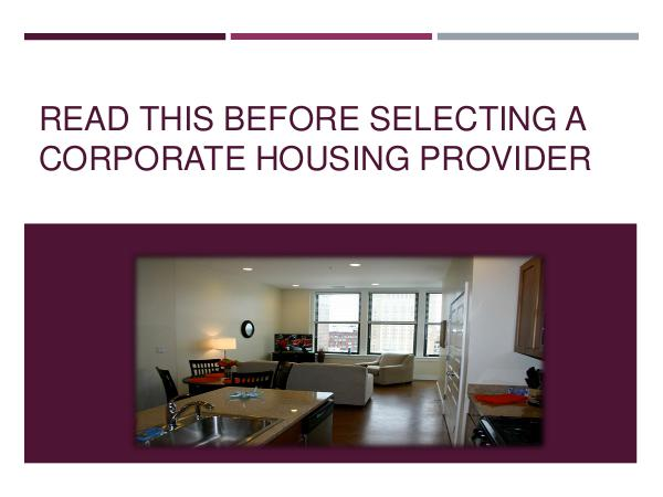 St. Louis Corporate Housing Read This Before Selecting A Corporate Housing Pro