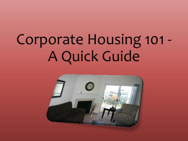St. Louis Corporate Housing Corporate Housing 101 - A Quick Guide