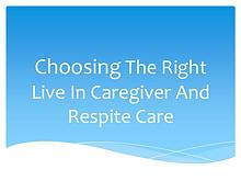 Live in Caregiver