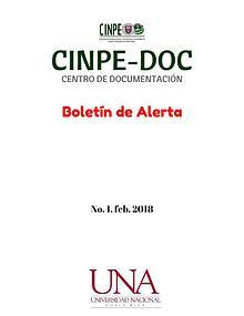 Boletín de alerta CINPE-DOC