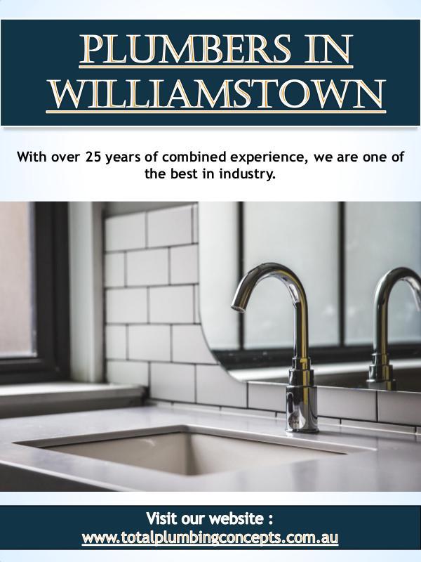 Plumbers In Williamstown