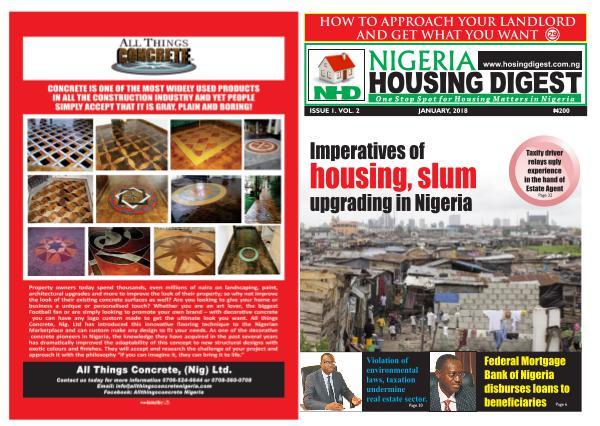 Nigeria Housing Digest NHD amended pdf