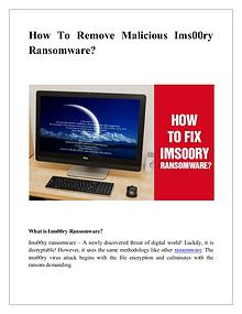 How To Remove Malicious Ims00ry Ransomware?