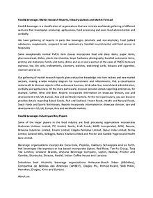 Market Research - Food & Beverages Market Forecast | IngeniousReports