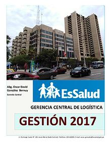 REVISTA GESTIÓN 2017 GERENCIA CENTRAL DE LOGISTICA
