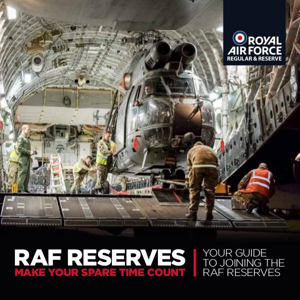 Reserves Opportunities Introducing the RAF Reserves