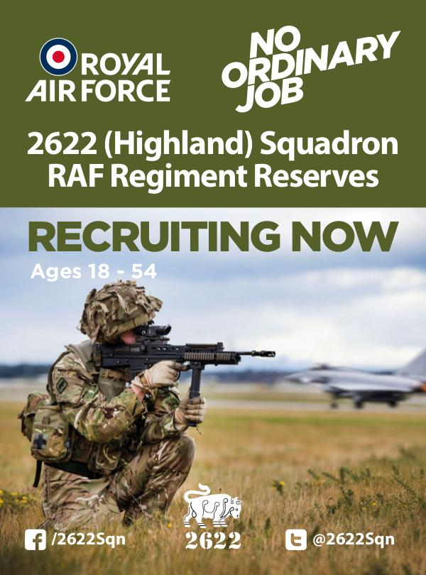 Reserves Opportunities 2622 (Highland) Squadron RAF Regiment