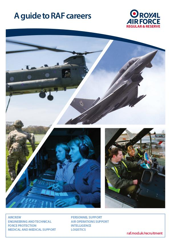 What You Need To Know Guide to RAF Careers Leaflet