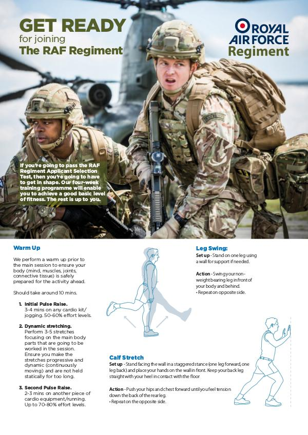 What You Need To Know RAF Regiment 4 Week Fitness Plan