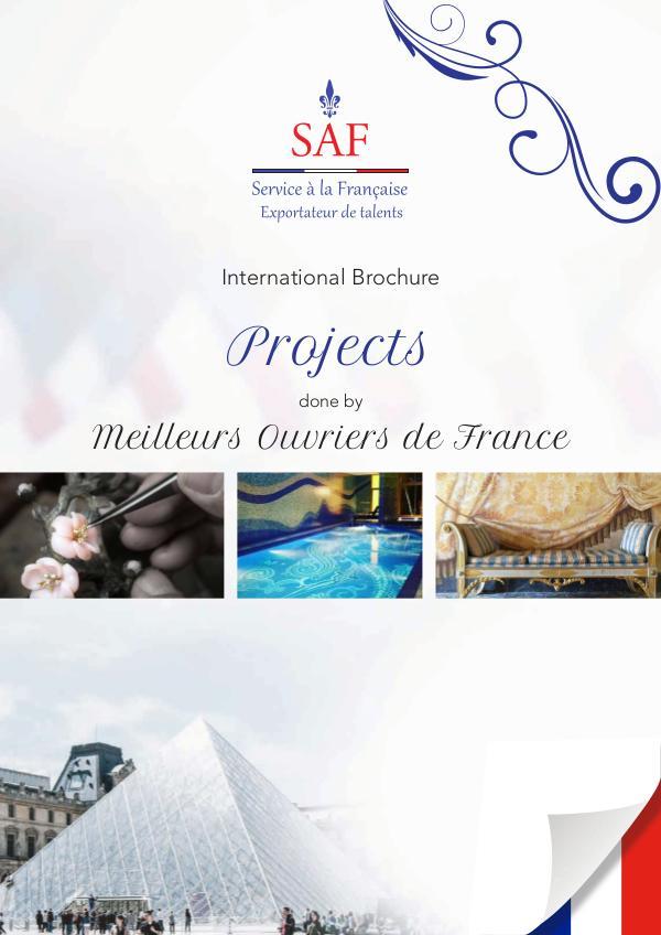 Service à la Française International Brochure Projects done by Meilleurs Ouvriers de France