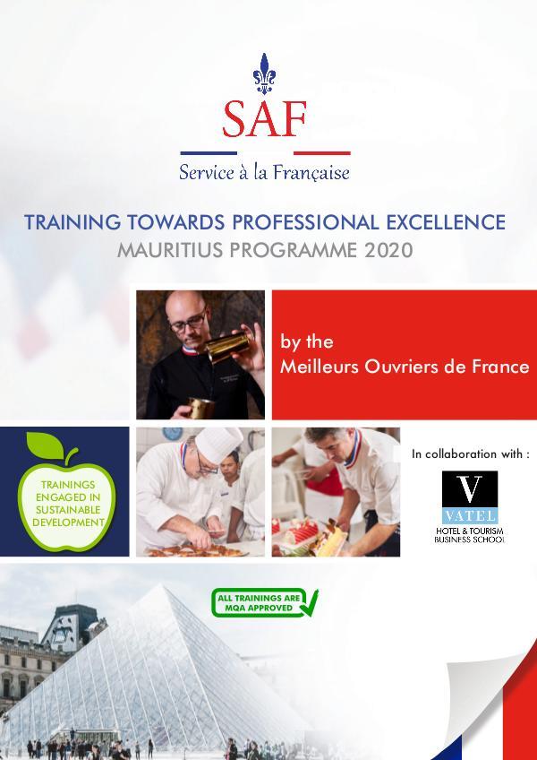 Service à la Française International Brochure Programmation SERVICE A LA FRANCAISE_Mauritius