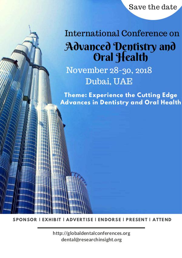International Conference on Advanced Dentistry and Oral Health Brochure_ADOH_2018