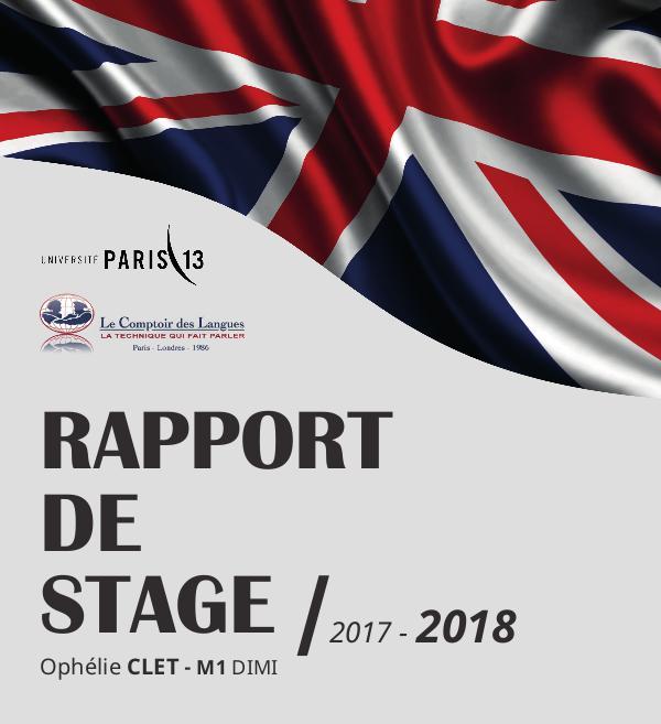 Etude - Rapports Rapport-de-Stage-CDL-2018