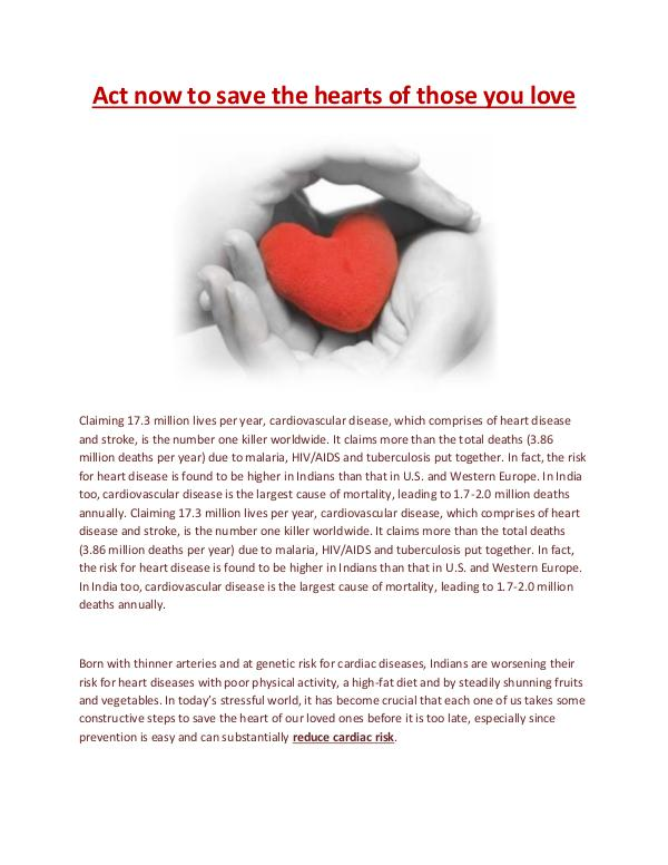 Cardiologist Indore Act now to save the hearts of those you love
