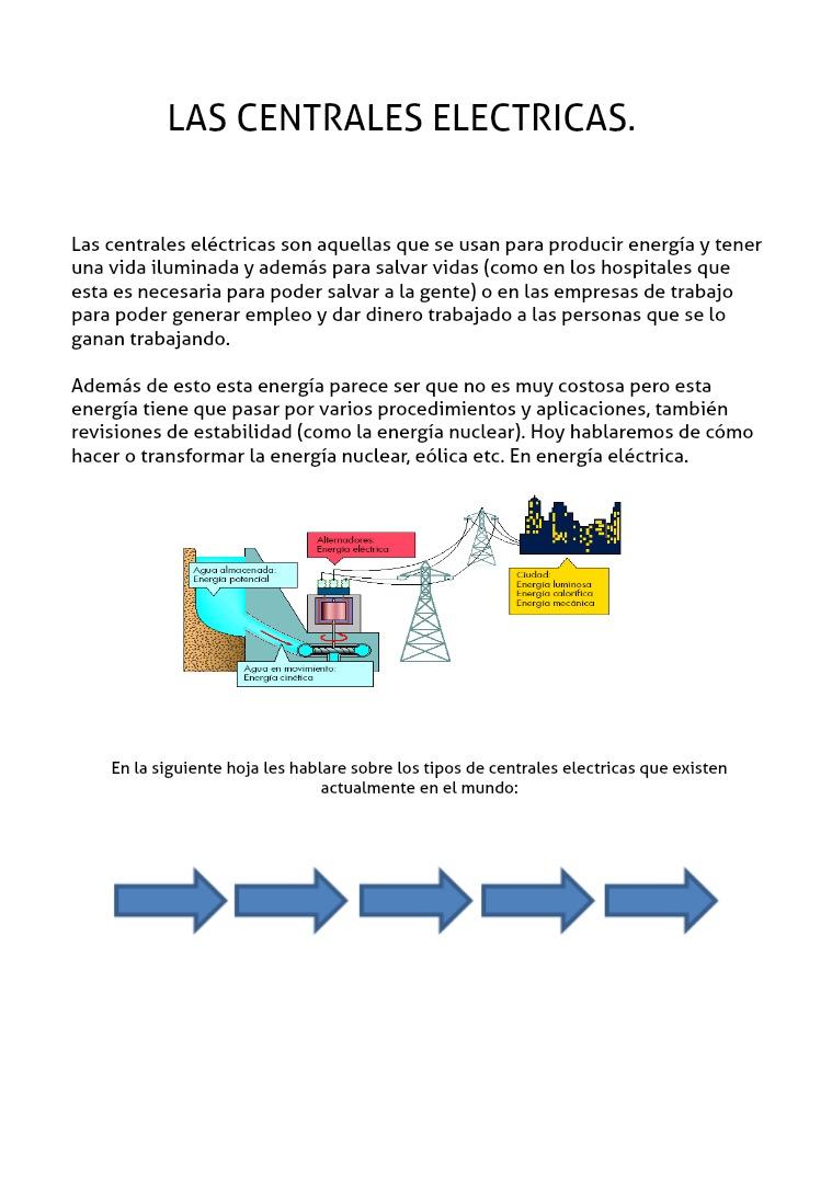LAS CENTRALES ELECTRICAS las centrales electricas