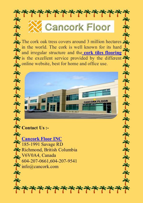 Find the Direct distributor of Cork Floor Tiles Find the Direct distributor of Cork Floor Tiles