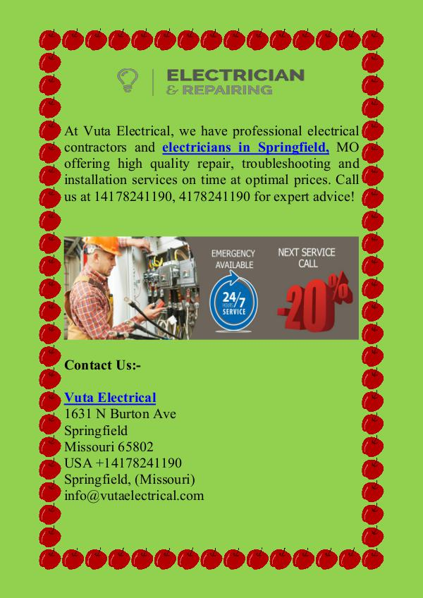 Professional Electricians in Springfield, MO electrician springfield
