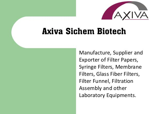 Manufacturer of Syringe Filters, Filter Paper