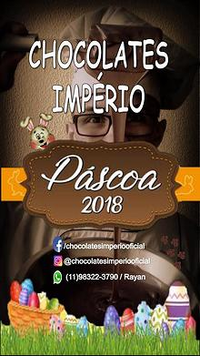 PÁSCOA 2018 CHOCOLATES IMPÉRIO