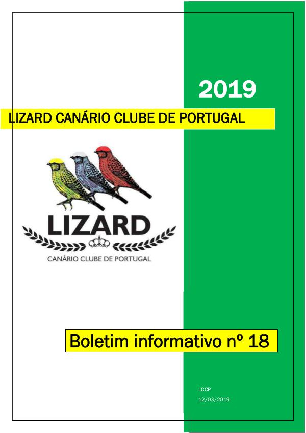 Boletim informativo do Lizard Canário Clube Português LCCP_ boletim informativo 18