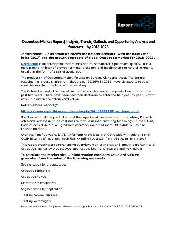Octreotide Market Report