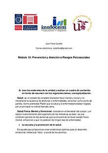Prevención y Atención a Riesgos Psicosociales