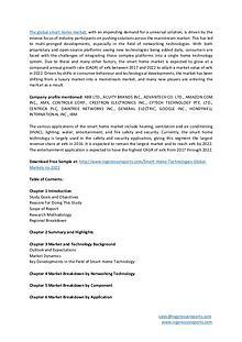 Market Trends Research - Smart Home Technologies Market Analysis