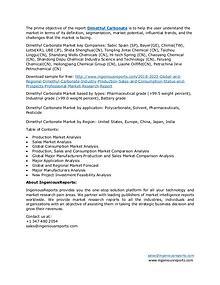 Market Research Report-Dimethyl Carbonate Market Forecast 2023
