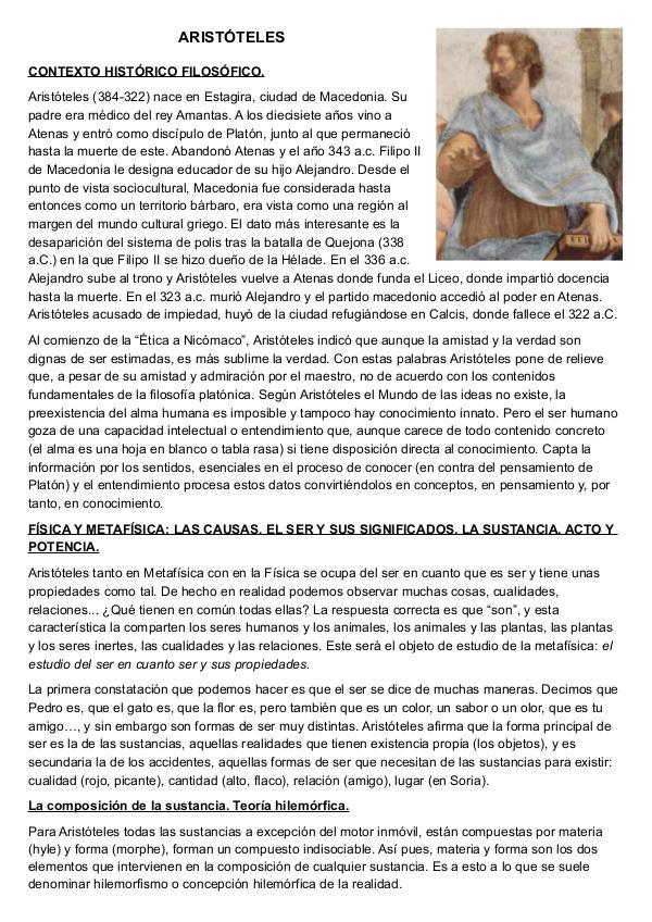 DEMOLICIONES FILOSÓFICAS ARISTÓTELES. SANTA CLARA.