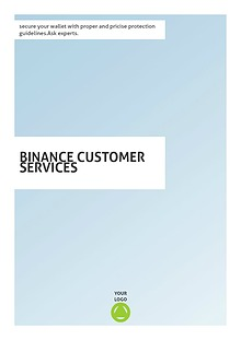 Binance Customer Service 18443665999