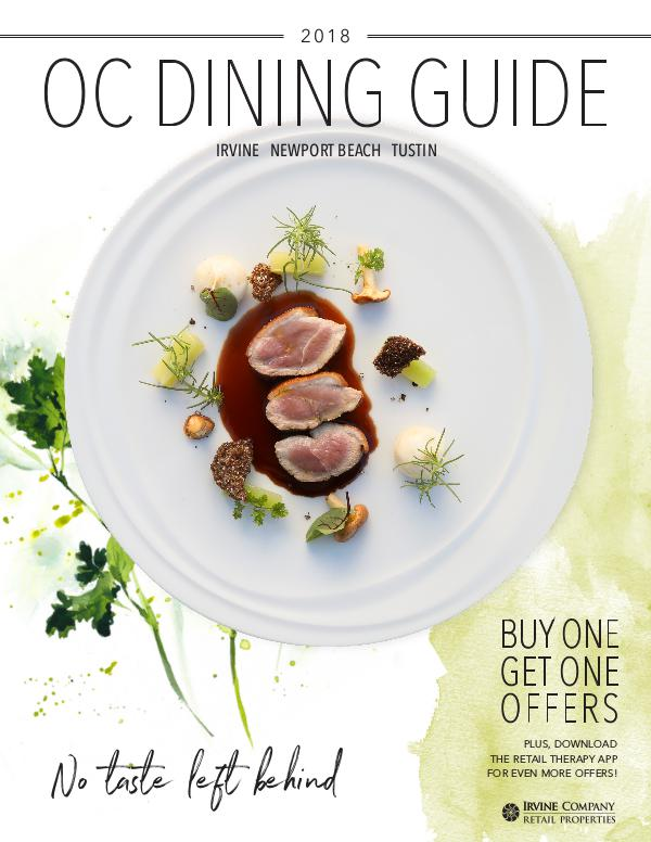 OC Dining Guide Dining Guide _June 5 2018