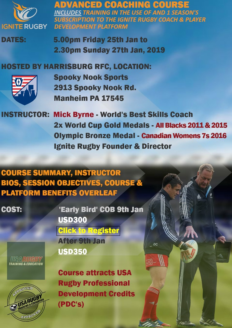 Ignite Rugby Advanced Coaching Course