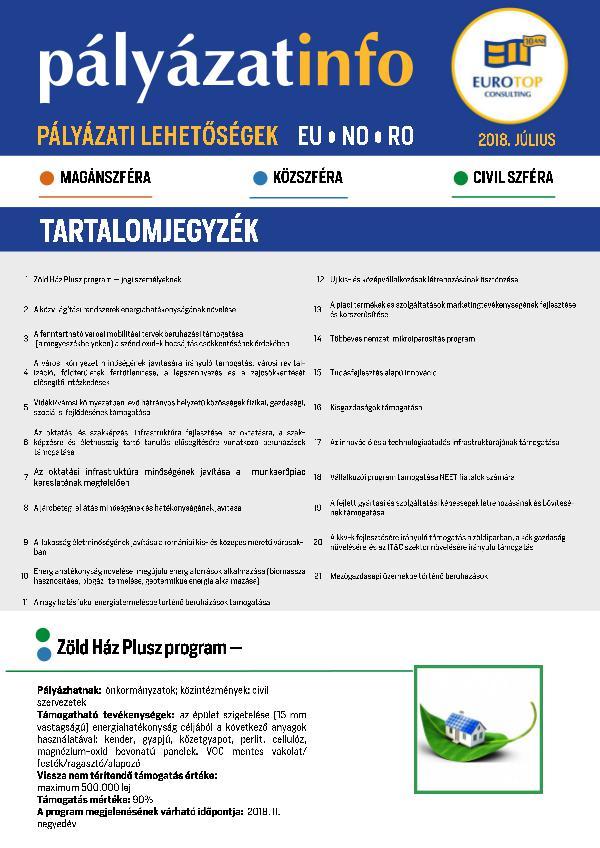 Newsletter ETC Július NEWSLETTER ETC Julius 2018
