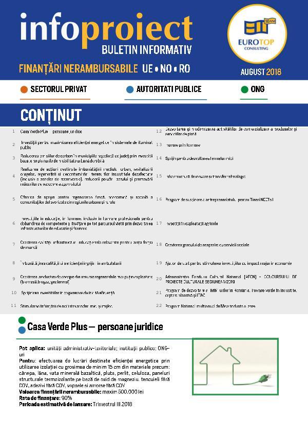 Newsletter ETC Augusztus NEWSLETTER ETC August 2018